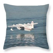 Seaplane Liftoff Throw Pillow