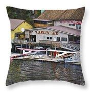 Seaplane Parking Throw Pillow