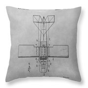 Seaplane Patent Drawing Throw Pillow