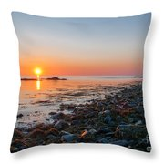 Seapoint Beach In  Kittery Point Maine Throw Pillow