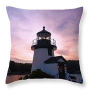 Seaport Nightlight Throw Pillow
