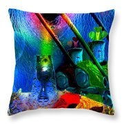 Search For The Grail Throw Pillow