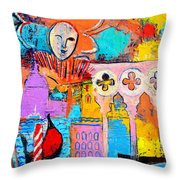 Search Of Lost Time In Venice Throw Pillow