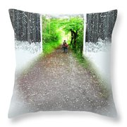 Searching Better Weather Throw Pillow