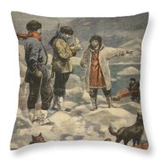 Searching For Andree, News! Throw Pillow