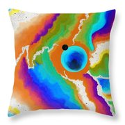 Searching For Et II Negative Throw Pillow