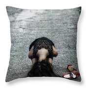 Searching For Protection Throw Pillow by Joana Kruse