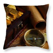 Searching For The Gold Treasure Throw Pillow