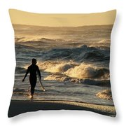 Searching For The Perfect Wave Throw Pillow