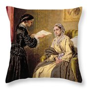 Searching The London Gazette For The List Of The Killed And Wounded Throw Pillow