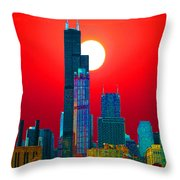 Sears Tower Willis Tower Chicago Throw Pillow