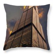 Sears Willis Tower Throw Pillow