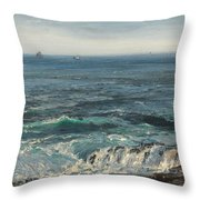 Seascape 1877 Throw Pillow by Henry Moore