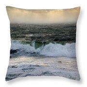 Seascape 1b The Sound  Throw Pillow