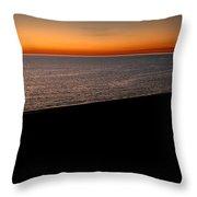 Seascape At Dawn Throw Pillow