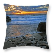 Seascape At Marthas Vineyard Throw Pillow