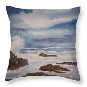 Seascape Five Throw Pillow