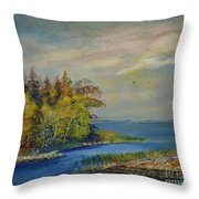 Seascape From Hamina 3 Throw Pillow
