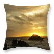Seascape Oregon Coast 2 Throw Pillow