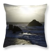 Seascape Oregon Coast 4 Throw Pillow