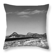 Seascape - Panorama - Black And White Throw Pillow