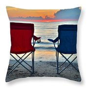 Seascape Serenity Throw Pillow