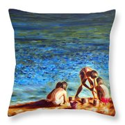 Seascape Series 3 Throw Pillow