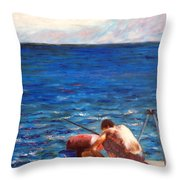 Seascape Series 4 Throw Pillow