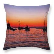 Seascape Silhouette Throw Pillow
