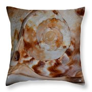 Seashell Abstract 5 Throw Pillow
