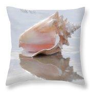Seashell Be Still Throw Pillow