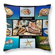 Seashell Collection 2 Throw Pillow