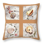 Seashell Collection II Throw Pillow