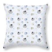 Seashell Pattern Throw Pillow