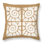Seashell Tiles Throw Pillow