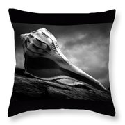 Seashell Without The Sea 3 Throw Pillow by Bob Orsillo