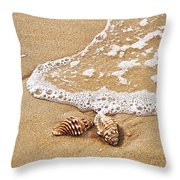 Seashells And Lace Throw Pillow