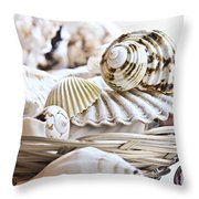 Seashells Throw Pillow by Elena Elisseeva