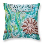 Seashells II Throw Pillow
