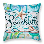 Seashells IIi Throw Pillow