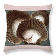 Seashells Spectacular No 22 Throw Pillow by Ben and Raisa Gertsberg