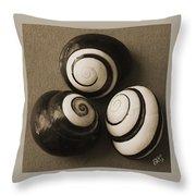 Seashells Spectacular No 28 Throw Pillow by Ben and Raisa Gertsberg