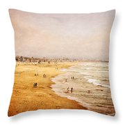 Seashore At Manhattan Beach Throw Pillow