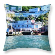 Seaside B And B Throw Pillow