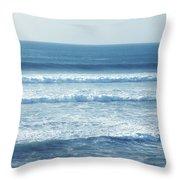 Seaside Blue Throw Pillow