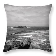 Seaside Bluff Bw Throw Pillow