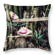 Seaside Display Throw Pillow