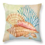 Seaside Dream-b Throw Pillow by Jean Plout