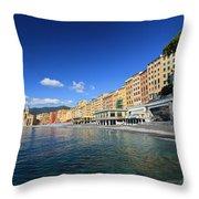 seaside in Camogli Throw Pillow