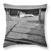 Seaside Park New Jersey Shore Bw Throw Pillow
